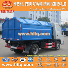 FOTON FORLAND brand 4X2 98hp capacity 4.5 tons newly produced hook lift garbage truck with discount price factory sale in China