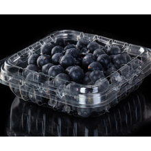 Transparent blueberry half fold packaging box