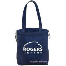 Dark Blue 600d Polyester Non-woven Shopping Bags / Reusable Shopping Bag