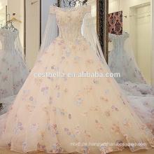 2016 Qualität luxuriöse Kristall funkelnde Brautkleider Luxus bling lange schleppende Brautkleid