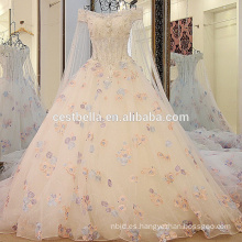 2016 calidad lujoso cristal chispeante vestidos de novia de lujo bling largo trailing vestido de novia