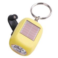डाइनेमो 2 एलईडी प्लास्टिक चाबी का गुच्छा solor ऊर्जा के साथ टॉर्च