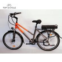 TOP / OEM 350w aprobado verde 26 pulgadas de la ciudad bicicleta eléctrica para las ventas
