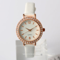 Gold plated women watch japan alloy case watch rose gold