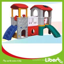 Two House Indoor Playground Toys Plastic Kids Slide LE.HT.015 Garantie de qualité