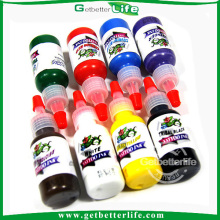 Getbetterlife moda 15ml 8colors caliente de la venta de tinta del tatuaje conjunto