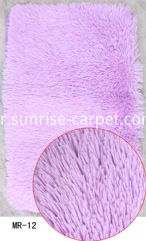 Velvet Bathmat in Light Purple color
