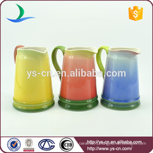 Colorful ceramic bathroom jug