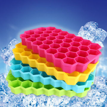 Honeycomb Ice Freezer 37 rongga Silicone Ice Jelly Tray