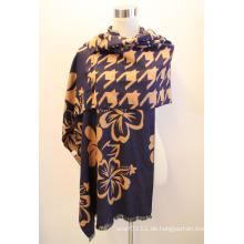 Lady Fashion Viskose gewebt Jacquard Fransen Schal (YKY4407)