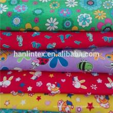 Tecidos de flanela de algodão 100% para roupas de dormir