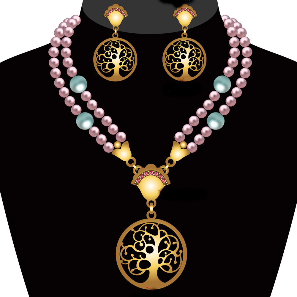 High End Fashion Jewelry Pearl Necklace Set Wholesale