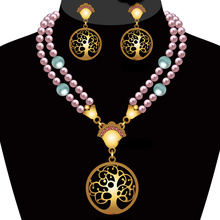 High End Fashion Pearl Necklace Set Wholesale