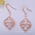 unique jewelry findings long sexy earrings with rose plated