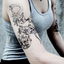 Tatouage temporaire à chaud Chaleur indolore estampage à chaud chaleur non-toxique tatouage, autocollant de tatouage temporaire de corps de visage d'Eco