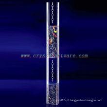 pilar de cristal retângulo, cristal de decoração