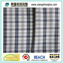 T/C Fabric 45s*45s Plaid Poly-Cotton Fabric