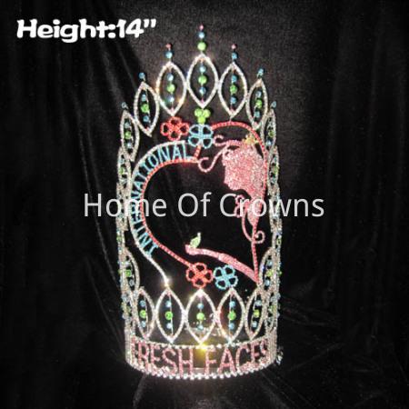 Coroas feitas sob encomenda frescas do concurso das caras da altura 14in