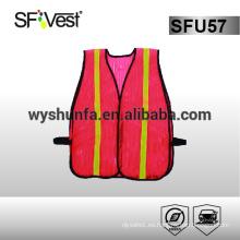 Hi vis ropa de trabajo chaleco de seguridad desechable verano chaleco de seguridad reflexiva chaleco de seguridad de motocicleta ropa de alta visibilidad