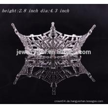 Großhandelskopfschmucksache volle runde königliche Krone für Mädchen
