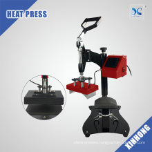 Dual Heating Plates Small Size 2 in 1 Combo Cap Heat Press Machine
