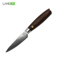 Houten steel Damascus Paring Knife
