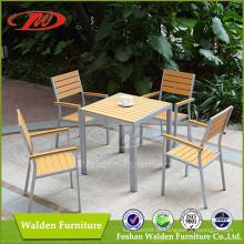 Plastik Holz Ess-Set, Garten Ess-Set, Kunststoff Holzmöbel