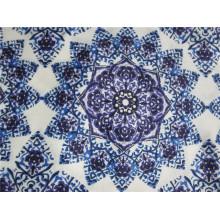75D Печатная полиэфирная крепированная шифоновая ткань для платья