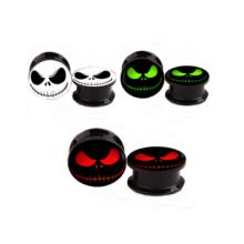Acrylic logo screw fit flesh ear tunnels gauges ear stretcher expander piercing body jewelry