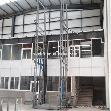 Electric hydraulic outside rail of elevator guide