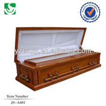 JS-A601 beautiful low price solid wood casket