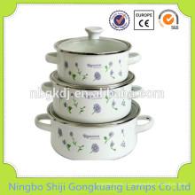 3 шт эмалированная посуда Кастрюля конкретный цветок суп лепит горшок