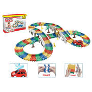 DIY toys of building blocks toys railway toys with 1 car(198pcs)
