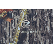 Warp Knitted Velvet Fabric with Forest Camouflage for Garment (ZCBP253)
