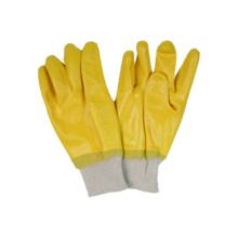 Interlock Liner Handschuh mit Nitril voll getaucht, Knit Handgelenk