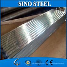 Chapa de aço ondulada galvanizada espessura de 1.2mm na venda