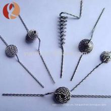 alambre de tungsteno de plata de alta pureza 99.95% 0.02mm para con el mejor precio