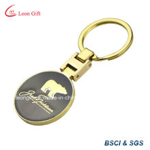 Zinc Alloy Gold Color Souvenir Bear Keychain
