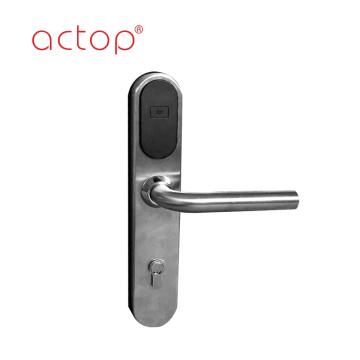 Cerradura de puerta de color plata de acero inoxidable estándar europeo 304