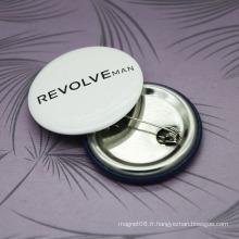Insigne rond fait sur commande de Pin de sécurité en métal, cadeaux promotionnels d'insigne de bouton de bidon