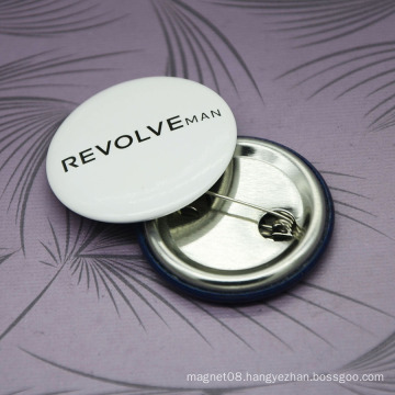 Custom Round Safety Metal Pin Badge, Tin Button Badge Promotional Gifts
