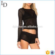 2017 Китай производитель футболка сетка для пляжа одежда для женщин