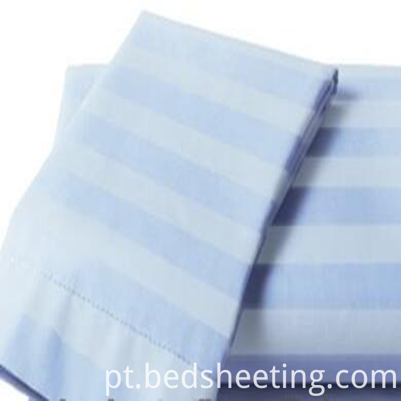 Solid Dyed Cotton Sateen Stripe Fabric