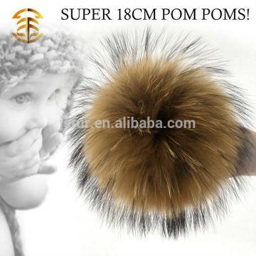 2017 Factory Wholesale Custom Ball Raccoon Fur Pom Poms