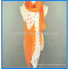 Lady fashion long om print scarf cotton