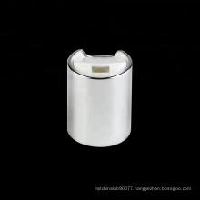 28/415 silver aluminium disc top bottle plastic cap