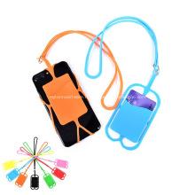Lanière promotionnelle de silicone avec le support de téléphone et le portefeuille