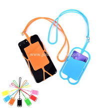 Promotional Silicone Lanyard With Phone Holder & Wallet