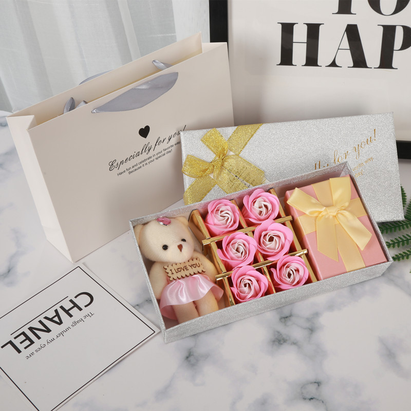 Bear Rose Lipstick Gift Box