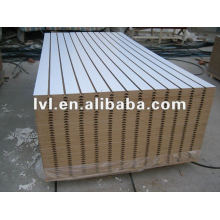 grooved mdf 1220*2440mm with melamine paper